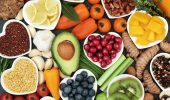 Health food for fitness fresh fruit, vegetables, pulses, herbs, spices, nuts, grains and pulses. High in anthocyanins, antioxidants,smart carbohydrates, omega 3 fatty acids, minerals and vitamins.